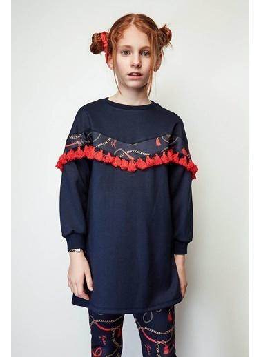 Tyess Kız Çocuk Lacivert Elbise Lacivert